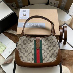 lorilie NWT Gucci Jackie 1961 small GG Supreme can